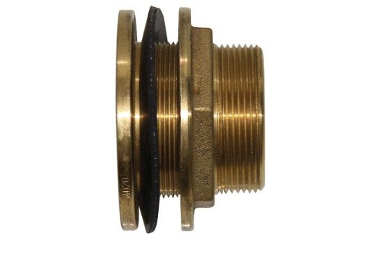 1 1/2 inch brass tank fitting