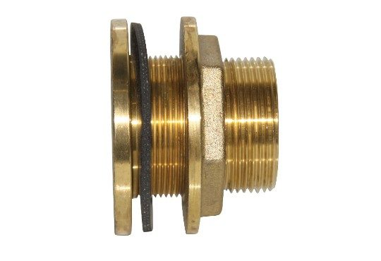 2 inch brass tank fitting