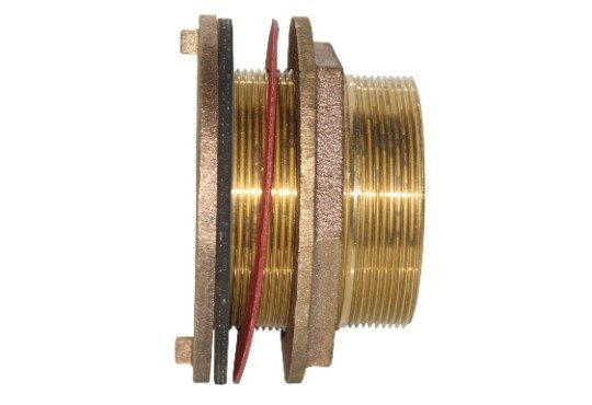 3 inch brass tank fitting