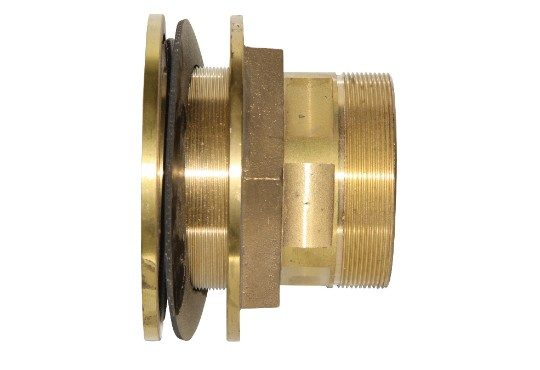 4 inch brass tank fitting