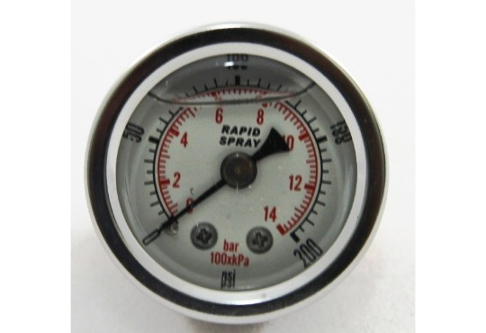 Gauge 0-200psi to suit quick attach regs