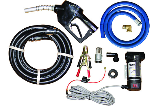 Pump kits with hose and nozzle