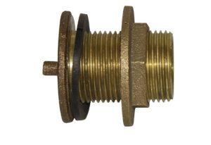 1 inch brass tank fitting