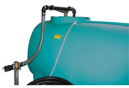 Overhead 38mm tank filler for trailers
