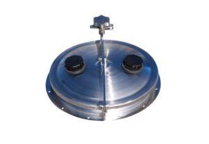 455mm stainless steel hinged lid
